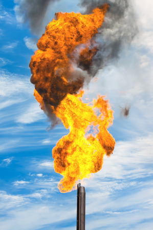 annihilation: Gas flaring. Combustion of associated gas at oil production.