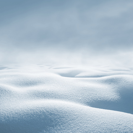 snowdrifts: Winter background. Winter landscape with deep snowdrifts and snowstorm.