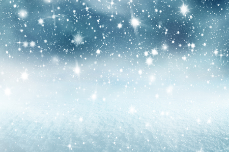 Winter christmas background with shiny snow and blizzard Stok Fotoğraf - 114435052