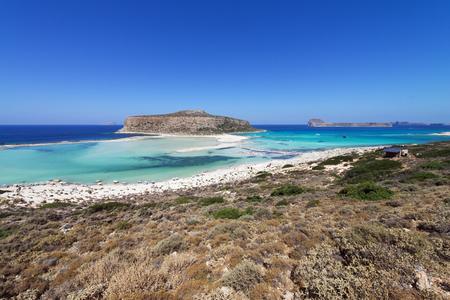 Balos lagoon, a paradise and relaxing beach in Crete Island, Greece, Greece