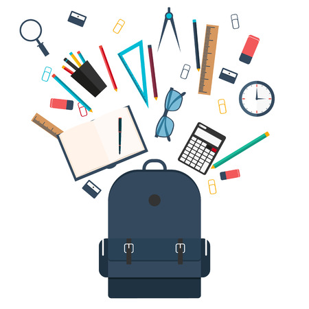 Back to School. Set illustration. Vector illustration.