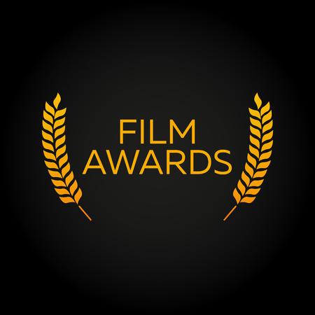 actress: Cannes. Laurel. Film Awards Winners. Film awards . Cinema. Vector illustration. Illustration