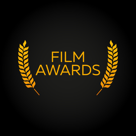 Cannes. Laurel. Film Awards Winners. Film awards . Cinema. Vector illustration. Illustration