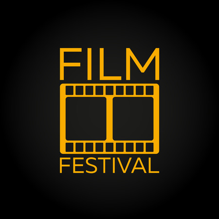 feature films: Film Festival. Laurel. Film Awards Winners. Film awards . Cinema. Vector illustration.