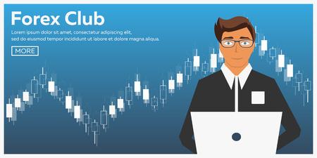 外国為替市場の取引します。フォレックス クラブ。オンライン取引。ビジネスおよび取引の技術。人工知能。株式市場。経営。モダンなフラット デ