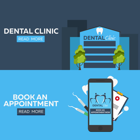 appointment book: Dental clinic banner. Medical centre Illustration