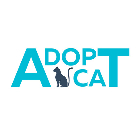 dont: Adopt . Dont shop, adopt. Cat adoption concept. Vector illustration