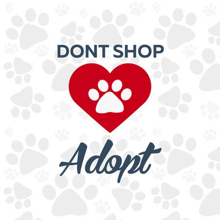 don't: Adopt . Dont shop, adopt. Adoption concept. Vector illustration