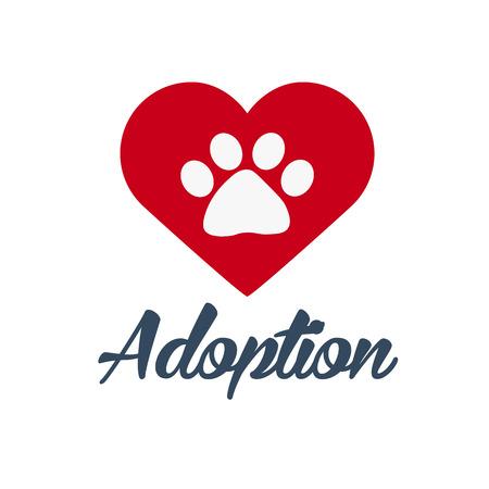 Adopt . Dont shop, adopt. Adoption concept. Vector illustration