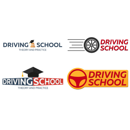 driving school: Driving school set. Auto Education. The rules of the road