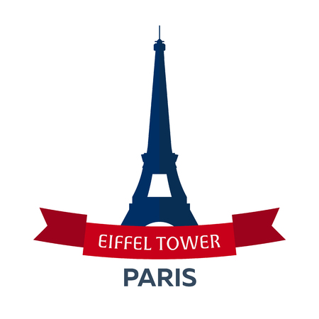 Bastille day. 14 July. Paris. Tourism. Eiffel Tower. France. Modern flat design.