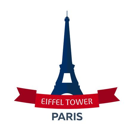 Bastille day. 14 July. Paris. Tourism. Eiffel Tower. France. Modern flat design.