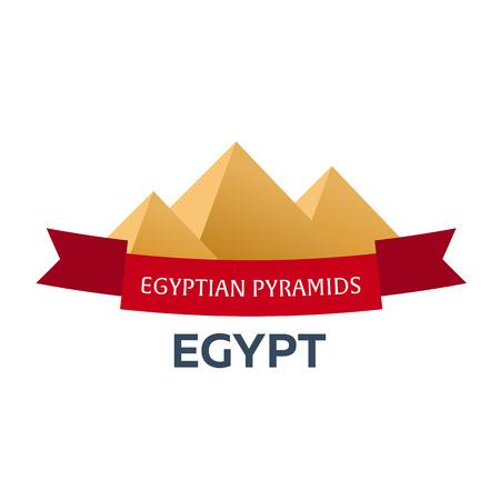pyramid egypt: Egypt. Tourism. Travelling illustration. Modern flat design. Egypt travel. Pyramid