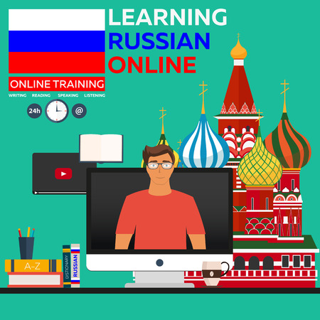 foreign language: Learning Russian Online. Online training. Distance education. Online education. Language courses, foreign language, language tutorial