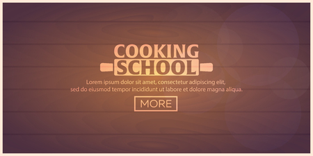 school class: Cooking school, courses. Culinary class vector illustration Illustration