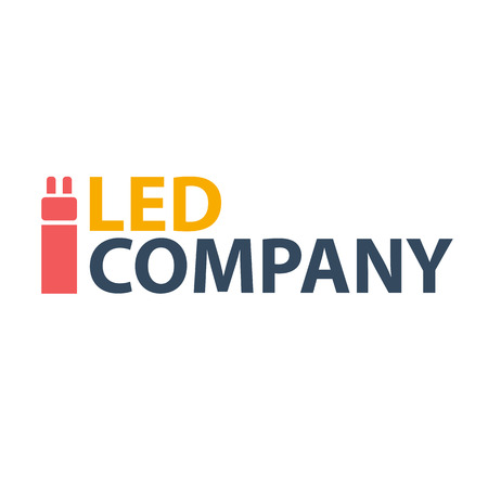 led: Led bulb logo. Led company logo. LED illumination. Corporate logo design Illustration