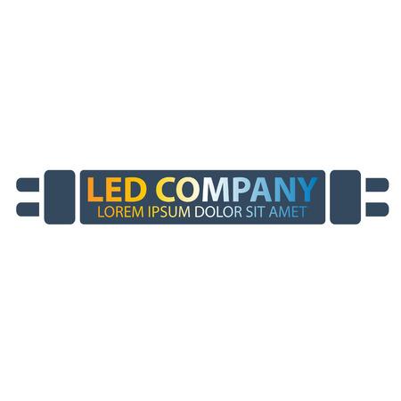 led: Led bulb logo. Led company logo. LED illumination. Corporate logo design Illustration
