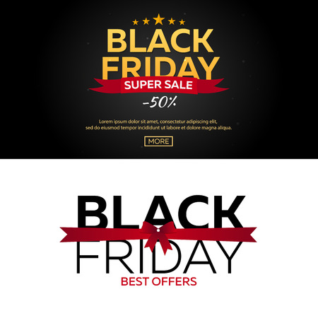Black Friday sale. Black Friday banner. Shopping. 일러스트