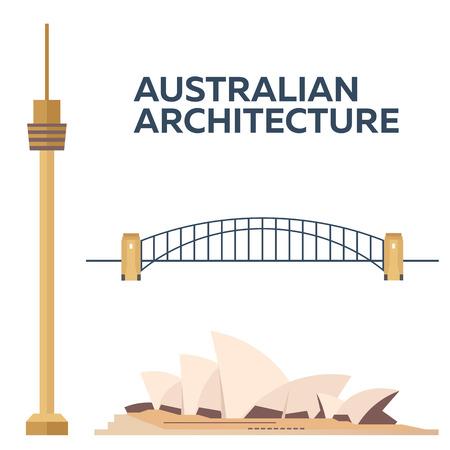 centrepoint tower: Australian Architecture. Modern flat design. Illustration