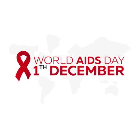 alert ribbon: World Aids Day 1 desember. Aids awareness. Vector illustration Illustration