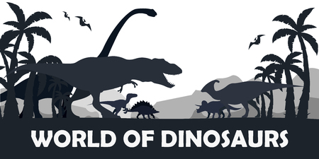 Set World of dinosaurs. Prehistoric world. T-rex, Diplodocus, Velociraptor, Parasaurolophus, Stegosaurus, Triceratops Cretaceous period Jurassic period