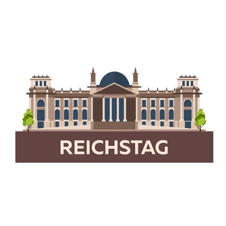 Reise nach Deutschland. Reichstag Flache Abbildung
