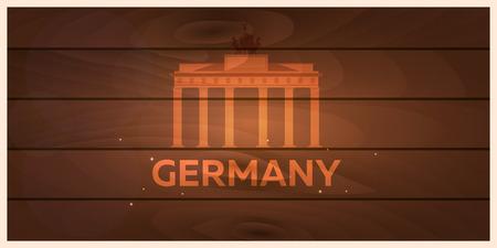 Reise nach Deutschland, Berlin Skyline. Reichstag Illustration
