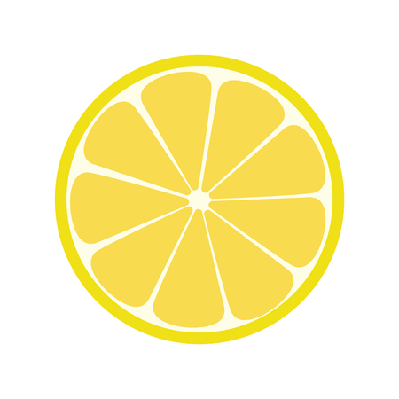 limon: Lemone icon. Citrus. Refreshing drink illustration Illustration