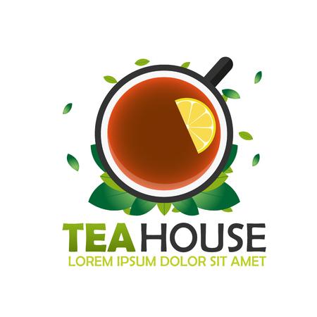 tea house: Tea house company. Tea . Illustration