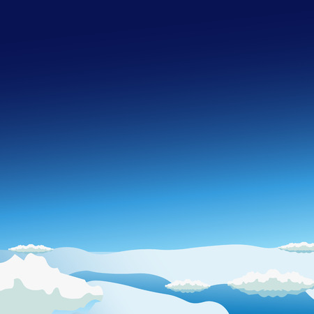 Stratosphere flat modern design. Space vector illustration
