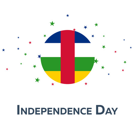 rite: Independence day of Central African Republic. Patriotic Banner. Vector illustration Illustration