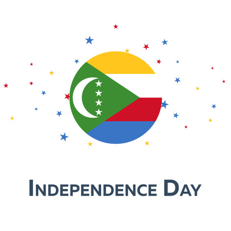 Independence day of Comoros. Patriotic Banner. Vector illustration