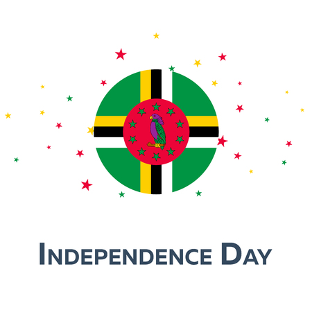 Independence day of Dominica. Patriotic Banner. Vector illustration Illustration
