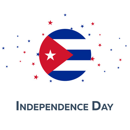 cuban culture: Independence day of Cuba. Patriotic Banner. Vector illustration Illustration