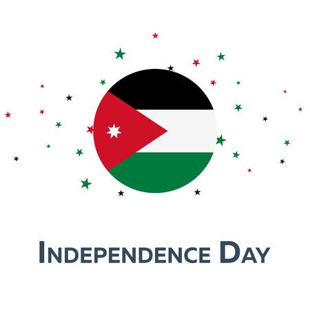 Independence day of Jordan. Patriotic Banner. Vector illustration Illustration