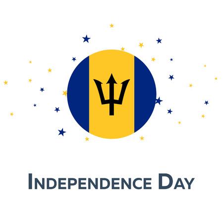 Independence day of Barbados. Patriotic Banner. Vector illustration Illustration