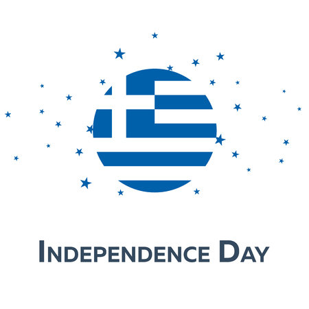 Independence day of Greece. Patriotic Banner. Vector illustration