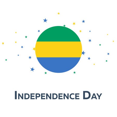 Independence day of Gabon. Patriotic Banner. Vector illustration