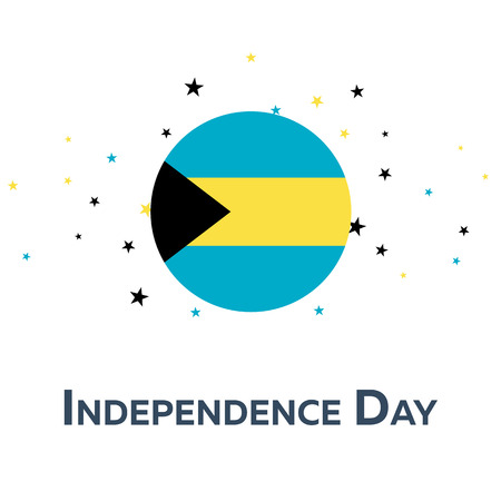 Independence day of Bahamas. Patriotic Banner. Vector illustration Illustration