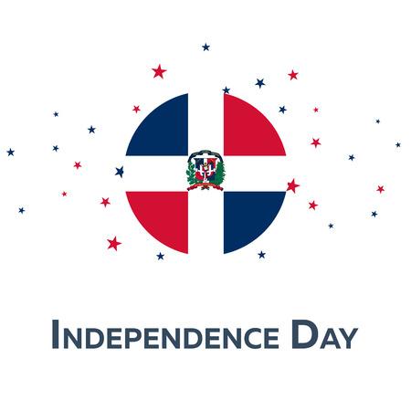 Unabhängigkeitstag der Dominikanischen Republik. Patriotic Banner. Vektor-Illustration