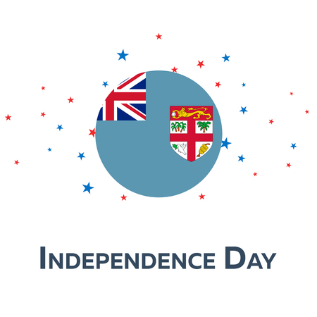 pied: Independence day of Fiji. Patriotic Banner. Vector illustration
