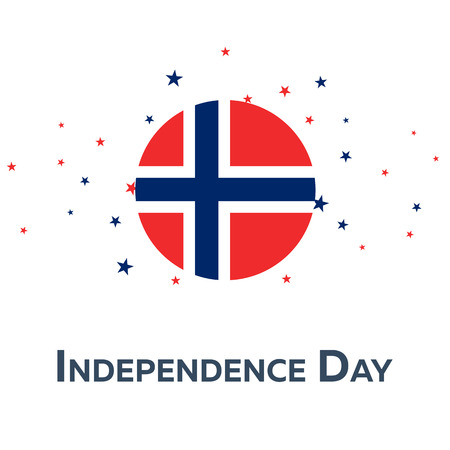 Independence day of Norway. Patriotic Banner. Vector illustration Illustration