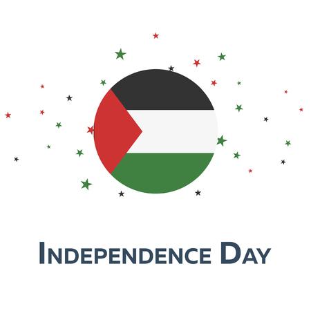 팔레스타인의 독립 기념일. 애국적인 배너. 벡터 일러스트 레이 션