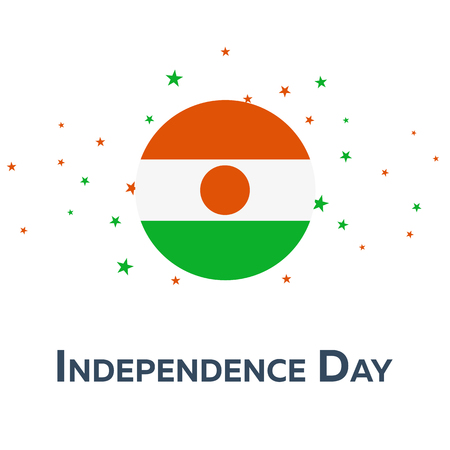 Independence day of Niger. Patriotic Banner. Vector illustration Illustration