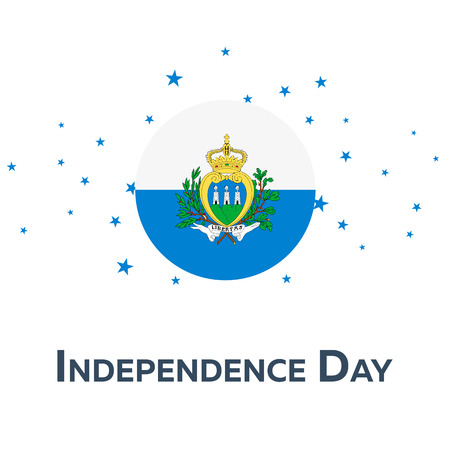Independence day of San Marino. Patriotic Banner. Vector illustration Illustration