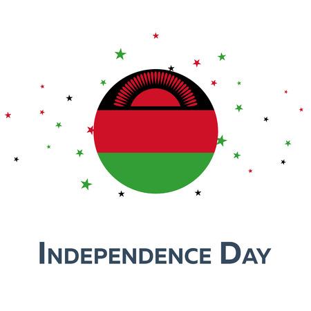 mal: Independence day of Malawi. Patriotic Banner. Vector illustration Illustration