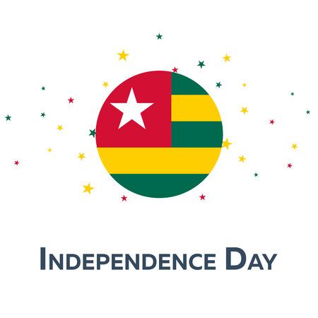 Jour de l'indépendance du Togo. Bannière patriotique. Illustration vectorielle Vecteurs