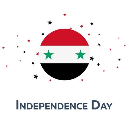 Independence day of Syria. Patriotic Banner. Vector illustration Illustration