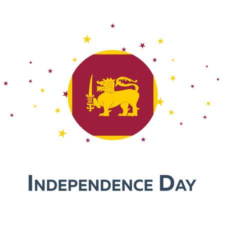 srilanka: Independence day of Sri Lanka. Patriotic Banner. Vector illustration