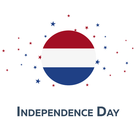 watermill: Independence day of Netherlands. Patriotic Banner. Vector illustration